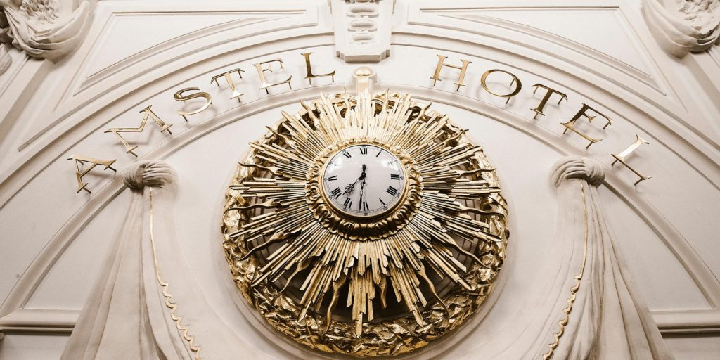 Amstel Hotel historical clock